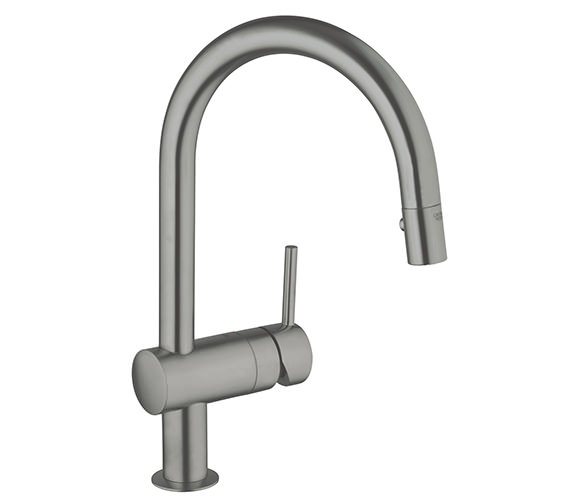 Additional image of Grohe Minta Chrome Monobloc Kitchen Sink Mixer Tap With Swivel Tubular Spout