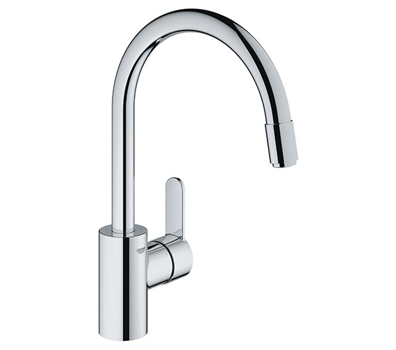 Grohe Eurostyle Cosmo Mono Sink Mixer Tap With Pull Out Mousseur Spout