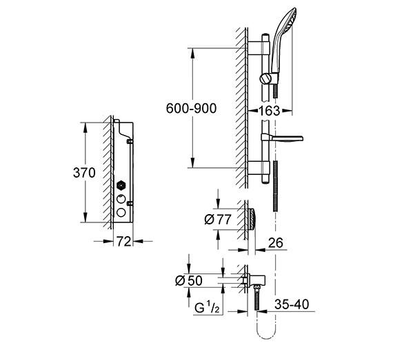 Technical drawing QS-V28662 / 36299000