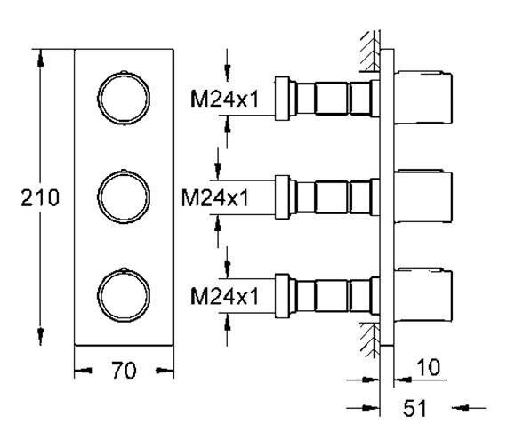 Technical drawing QS-V28691 / 27625000
