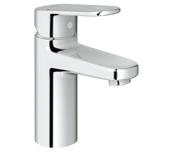 Grohe Europlus Smooth Body Chrome Mono Basin Mixer Tap With Metal Lever