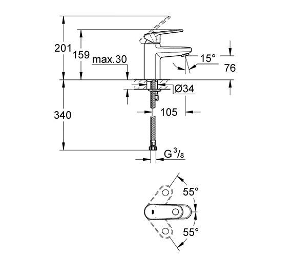 Technical drawing QS-V28692 / 3316320L
