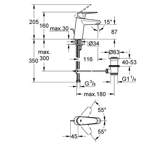 Technical drawing QS-V28711 / 33190002