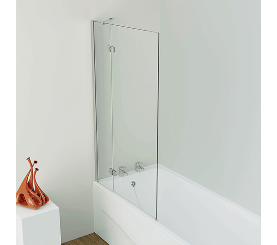 Kudos Inspire 6mm Left handed 2 Panel Outswing Bath Screen