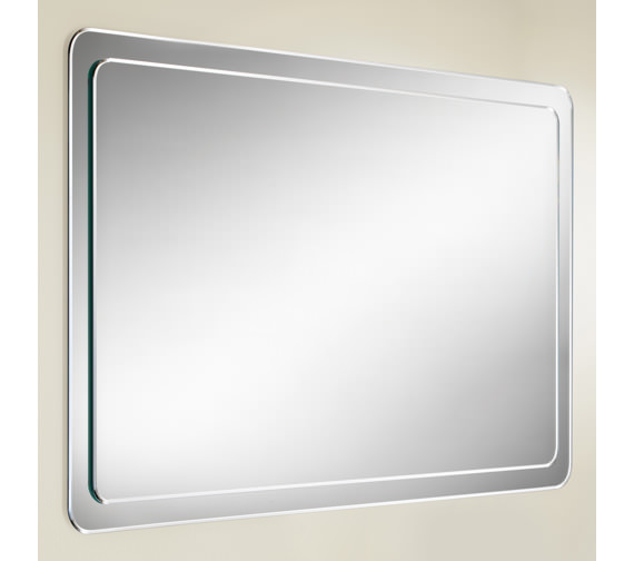 HIB Abbi Bevelled Mirror On Mirror With Rounded Corners - 76600000