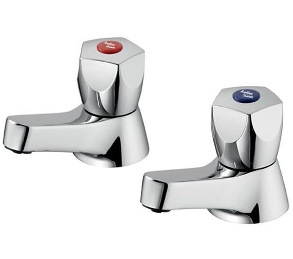Armitage Shanks Sandringham 21 5 Facet Handles Pair of Bath Filler Taps
