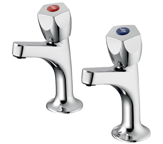 Armitage Shanks Sandringham 21 Sink Pillar Taps With 5 Facet Handles