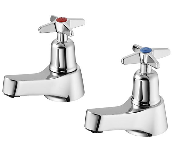 Armitage Shanks Sandringham 21 Basin Pillar Taps With Crosshead