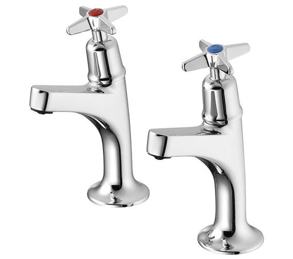 Armitage Shanks Sandringham 21 Sink Pillar Taps With Crosshead Handles