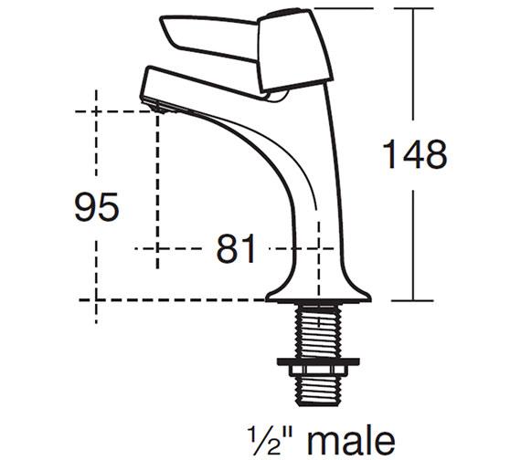 Technical drawing QS-V28874 / B9885AA
