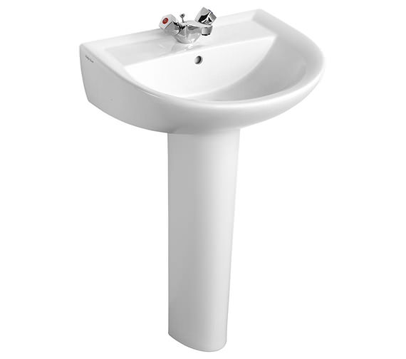 Armitage Shanks Sandringham 21 Washbasin 55cm With 1 Tap Hole - Contemporary Style