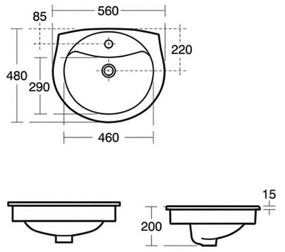 Technical drawing QS-V29385 / R410801