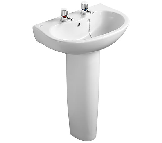 Ideal Standard Space Projection 2 Tap Hole Wash Basin 580mm