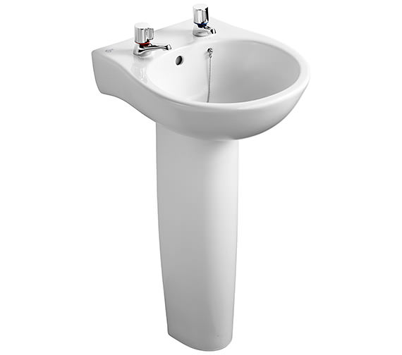 Ideal Standard Space Narrow 2 Tap Holes Washbasin 440mm - E6140