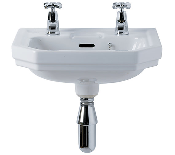 Ideal Standard Plaza 450mm 2 Taphole Handrinse Basin - E381001