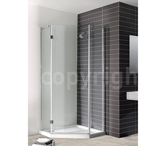 Simpsons Design Semi Frame-less Pentagon Shower Enclosure 900mm