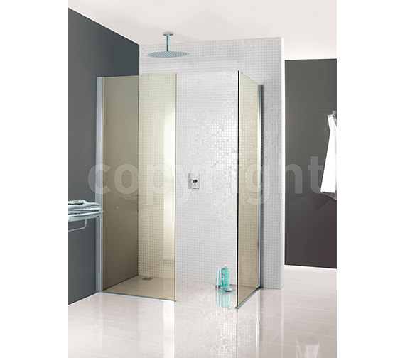 Additional image of Simpsons Classic Mode Walk In Shower Enclosure 760 x 1950mm