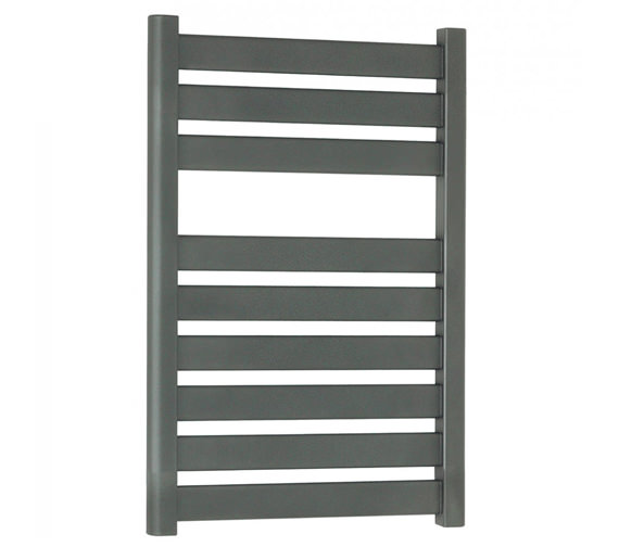 Bauhaus Edge Flat Panel Towel Rail Anthracite 500 x 720mm - ED50X72A