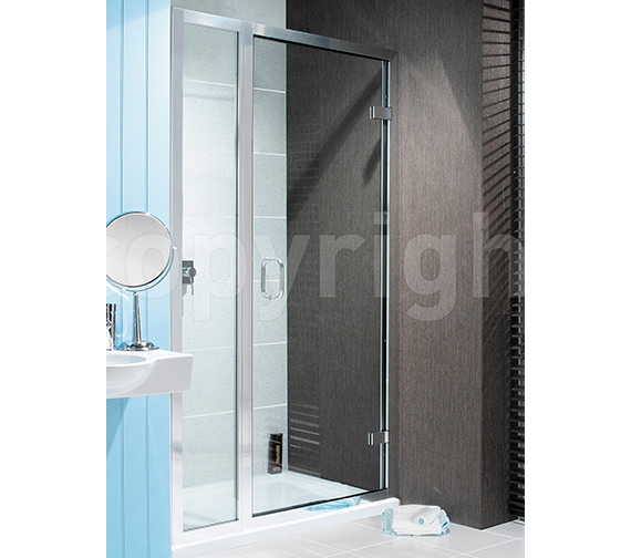 Simpsons Classic Frame-less 1000mm Hinged Door With Inline Panel