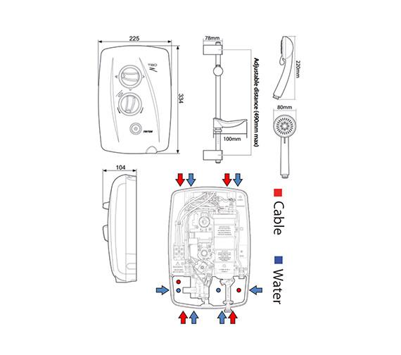 Technical drawing QS-V29742 / SP8009ZFF