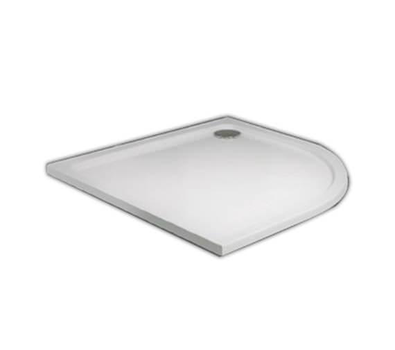 Aqva 800 x 800mm Quadrant Slim Resin Shower Tray