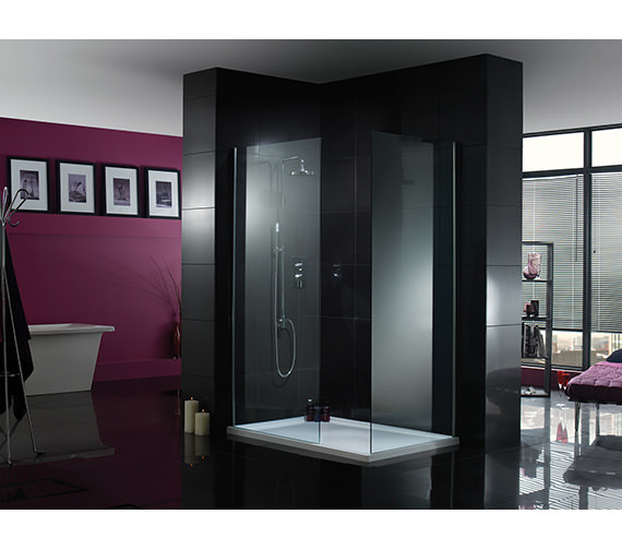 Additional image of Aquadart Wetroom 8 Walk-In 760mm Shower Panel