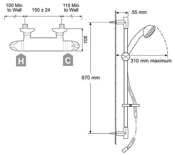 Technical drawing QS-V29806 / 2.1630.001