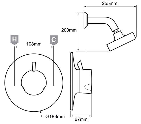 Technical drawing QS-V29813 / 1.1595.003