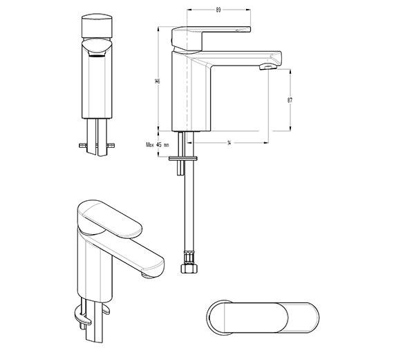 Technical drawing QS-V29897 / VO110DNC