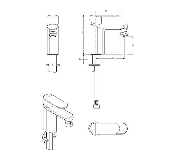 Technical drawing QS-V29898 / VO210DNC
