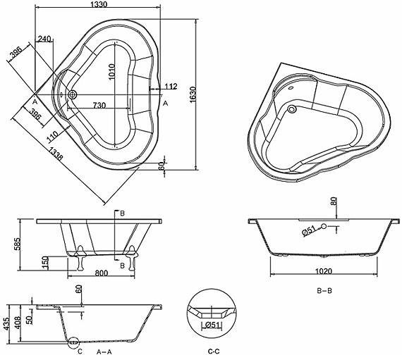 Technical drawing QS-V298 / T11F