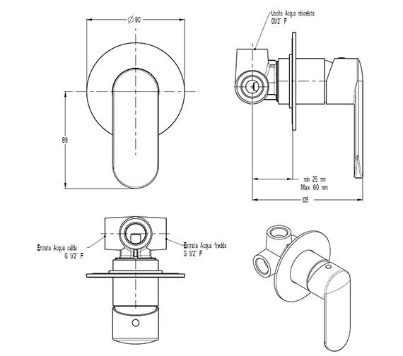 Technical drawing QS-V29905 / VO0004RC