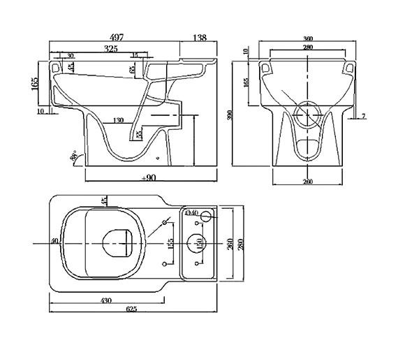 Technical drawing QS-V29952 / QU040