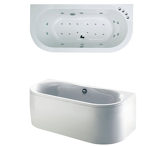 Phoenix Dee Bow Fronted Whirlpool And Airpool Bath 1700 x 800mm System 3