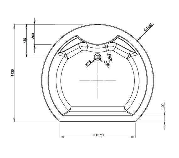 Technical drawing QS-V81375 / BH012S1