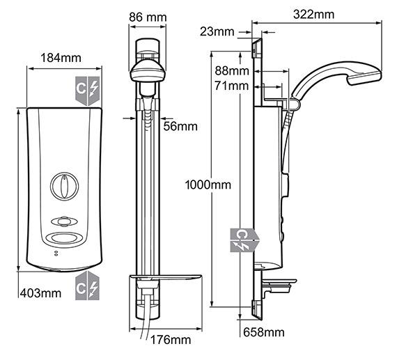 Technical drawing QS-V30 / 1.1643.006