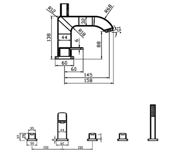 Technical drawing QS-V30060 / CIE057
