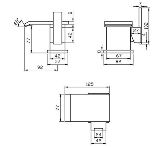 Technical drawing QS-V30075 / RIO009