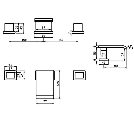 Technical drawing QS-V30076 / RIO045