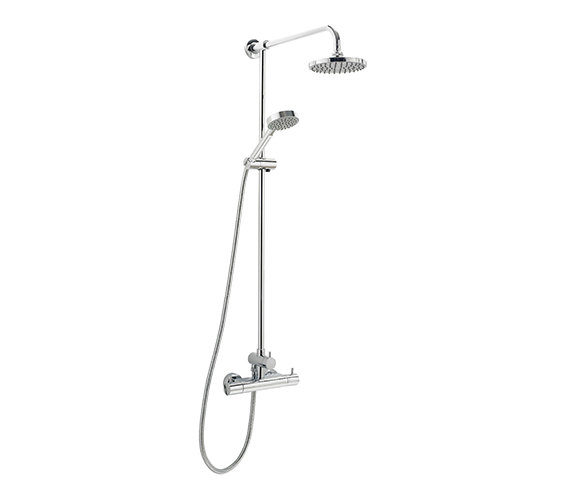 Deva Vision Thermostatic Bar Shower With Rigid Riser Kit And Diverter