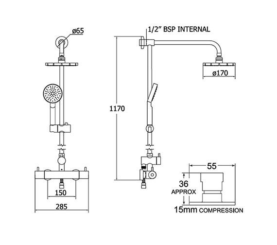 Technical drawing QS-V30098 / VSNBDEF
