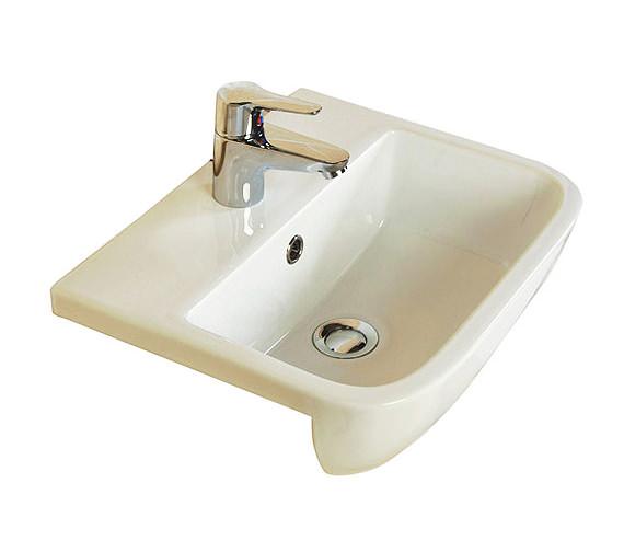 RAK Series 600 1 Tap Hole Semi Recessed Basin 420mm - S60042SR1