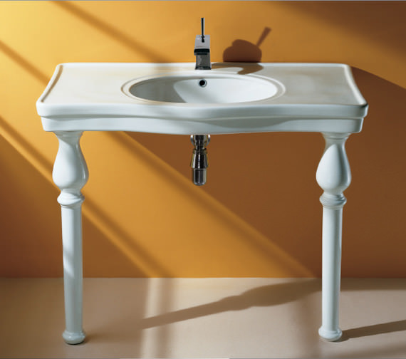 RAK Console Deluxe 1 Tap Hole Basin With Ceramic Legs 1050mm