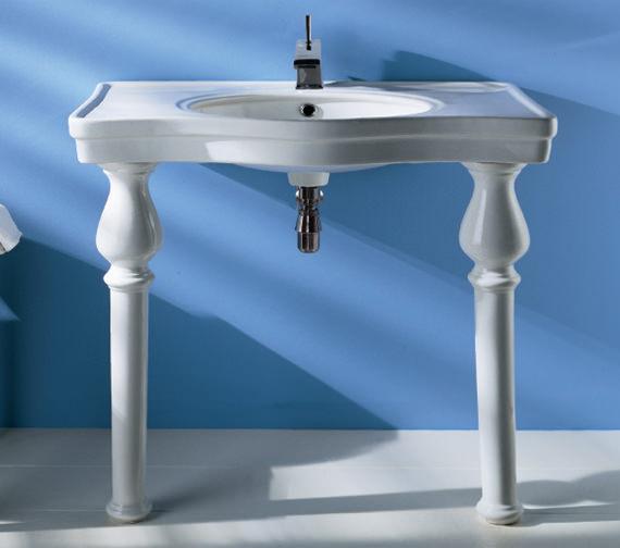 RAK Console Alexandra 1 Tap Hole Basin With Ceramic Legs 850mm