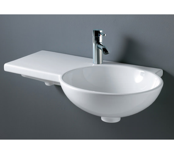 RAK Gina 1 Tap Hole Wall Hung Basin 675mm Left Hand - GINALH
