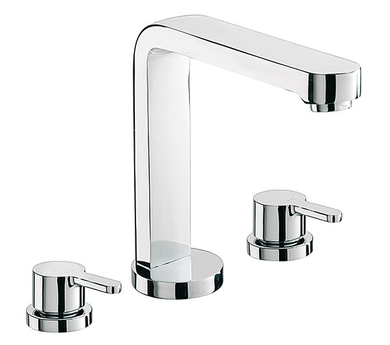 Sagittarius Plaza 3 Hole Deck Mounted Bath Filler Tap - PL-111-C Image