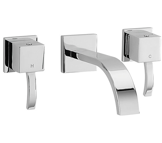 Sagittarius Arke 3 Hole Wall Mounted Basin Mixer Tap