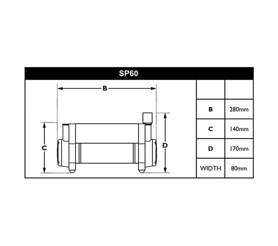 Technical drawing QS-V30512 / SP60