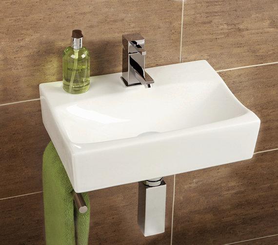 HIB Malo Murcia Cloakroom Basin With Towel Rail - 8921