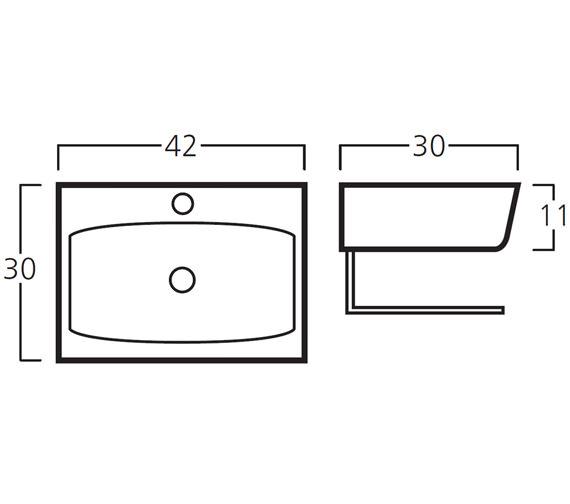 Technical drawing QS-V30777 / 8921